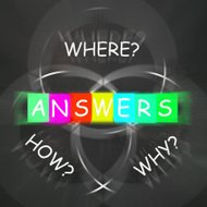 Words Displays Answers to Questions Why How and Where