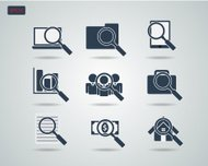 Magnifying Glass and Business Icon