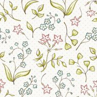 Beautiful seamless pattern with Forget-me not and jasmine flower