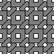 Seamless black and white pattern, simple vector stripes