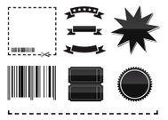 Black and white coupon elements
