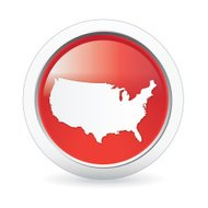 USA Map badge in red