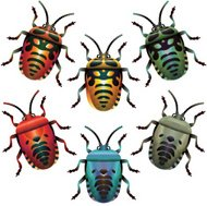 Bugs Set Stink Horiz Stripes Shield-Shape