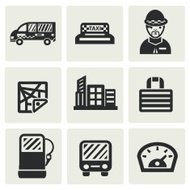 Transport and building icons,vector