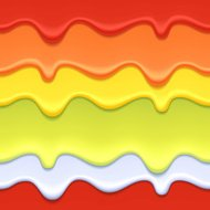 Colorful drips abstract background - red, green and yellow color