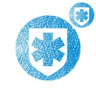 Medical insurance vector simple single color icon isolated