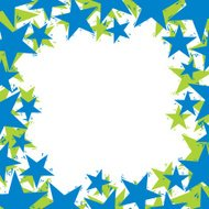 Stars border made in contemporary geometric style, vector