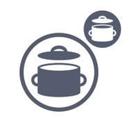 Saucepan pot vector simple single color icon isolated on white