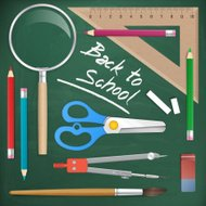 back to school tools object vector element