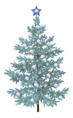 Christmas spruce fir tree with ornaments