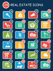 Real estate,sale house icons,clean vector