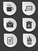Office icons,clean vector