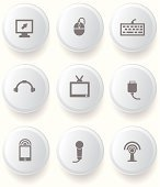 Computer buttons,vector