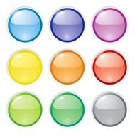 glossy icon buttons