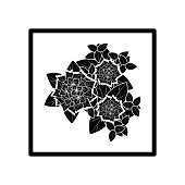 Abstract Flower Black Silhouette Illustration