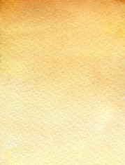 Watercolor paper texture background in sienna yellow