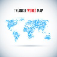 Triangle Map abstract isolated on a white backgrounds