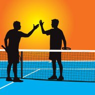 Tennis Match Handshake - Congratulations