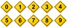 Traffic Sign Numbers