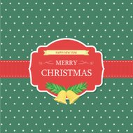 Christmas Label [dot background green color]