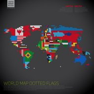 Dark Infographics World map from dots, communication concept