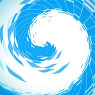 abstract blue wave stripe technology background