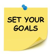 Set Your Goal Post-it Note