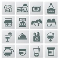 Food icon set,clean vector