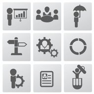Human resource icon set,vector