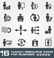 Human resource icons for business,clean vector