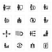 Human resource icon set icons,clean vector