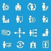 Human resource icons,clean vector