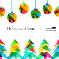 Vector seamless background, New Year 2015