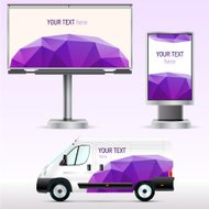 Template outdoor advertising or corporate identity.
