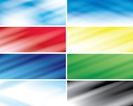 set -  abstract vector color headers with blurred lines