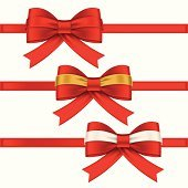 red bows and ribbons