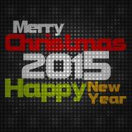 Merry Christmas and Happy New Year 2015 Creative Design