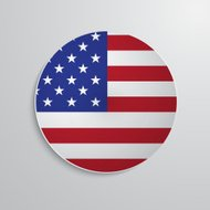 Paper circle with american flag