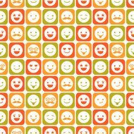 Seamless pattern of color smile