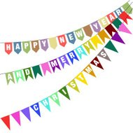 Happy New Year 2015 From Vector bunting and garland
