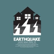 Earthquake Effect To Home Vector Illustration