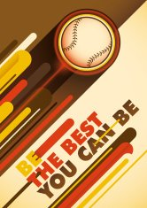 Baseball poster with abstract design.