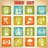 Business,Human resource management icons,vintage style,vector