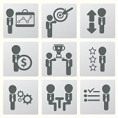Human resource and management,icons,vector