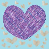 abstract magic colorful heart on a blue background