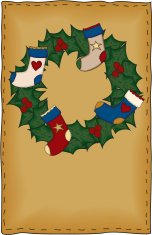 Folk Art Christmas Card