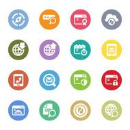 communication and website icons
