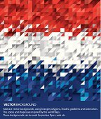 Abstract Netherlands Background, Holland Flag (Vector Art)