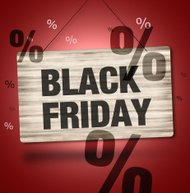 Black Firday Sale Wood Sign Creative Background Graphic