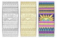 Tribal texture. Series of image Template frame design for card.